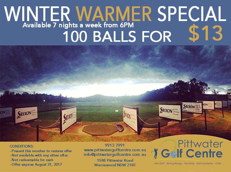 Golf Voucher Pittwater Golf Centre Winter Warmer