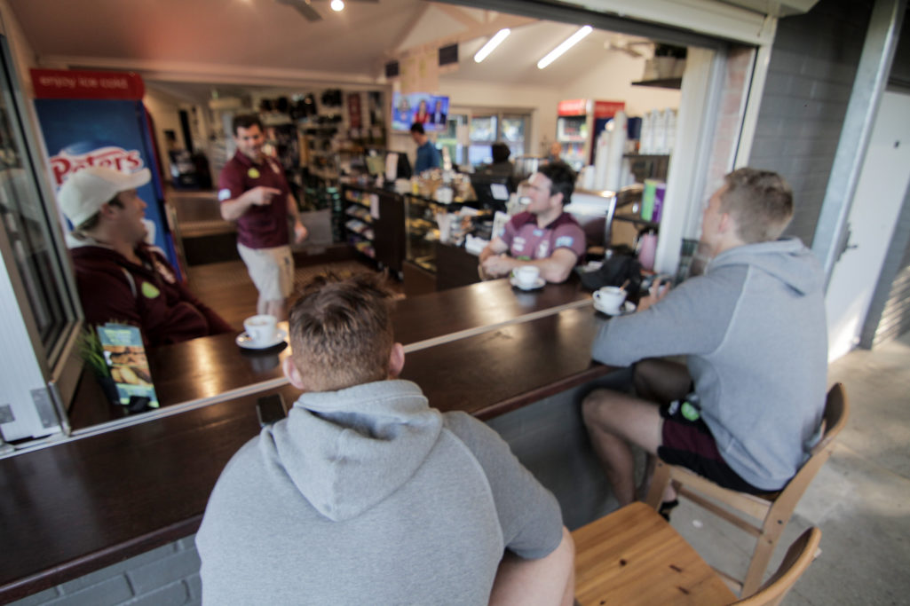 Manly Sea Eagles in Cafe