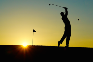 golf-sunset-sport-golfer