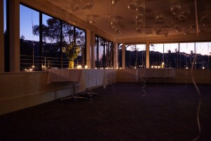 The function room at night